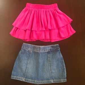 Bundle of 2 Old Navy skirts for little girl